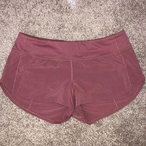 - Lululemon speed shorts